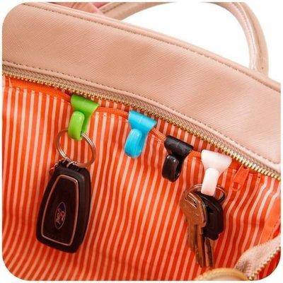 ☜shop go☞【F02】創意防丟包包內掛鉤 內置鑰匙夾 方便攜帶鑰匙扣 鑰匙掛勾 小物收納 2入裝 防丢包掛勾包包