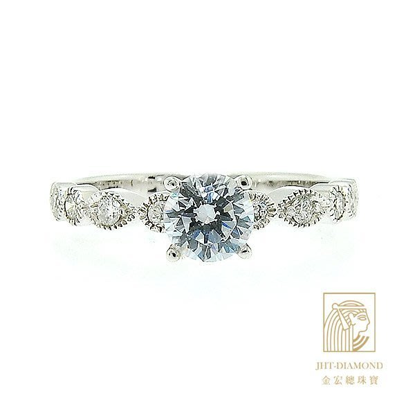【JHT 金宏總珠寶/GIA專賣】婚戒/鑽戒 女鑽石戒台 (不含搭配主鑽)JRM018