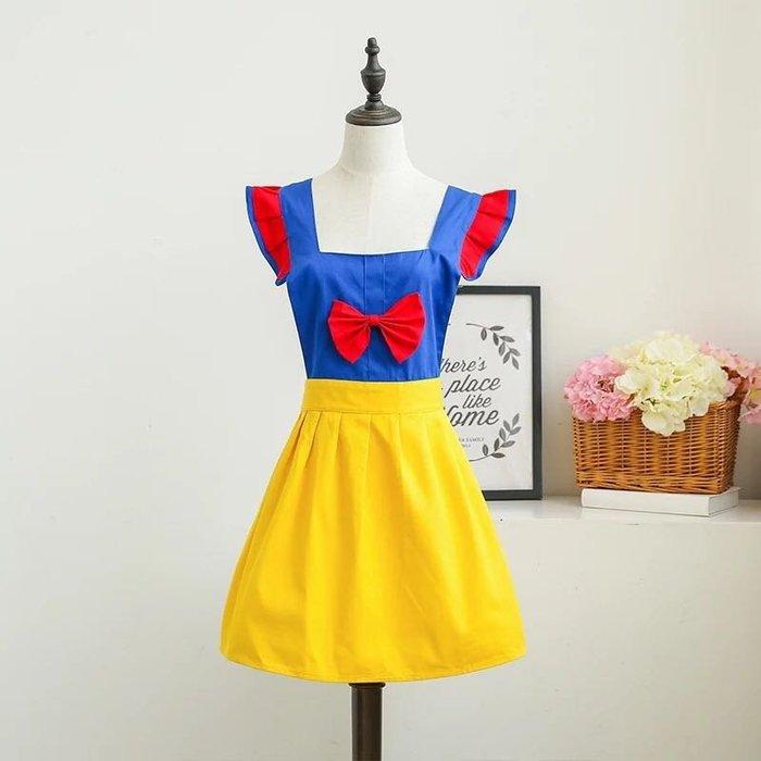 ❤生活。雜貨❤純棉 白雪公主 圍裙 咖啡廳 美甲 工作裙 罩衣