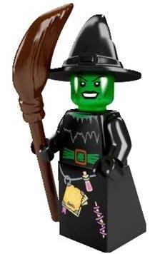 絕版品【LEGO 樂高】積木/ Minifigures人偶系列: 2代人偶包抽抽樂 8684 | #4 綠臉巫婆+掃把