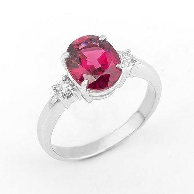【JHT金宏總珠寶/GIA鑽石專賣】3.23ct天然碧璽鑽石戒指/材質:PT900(JB19-A28)