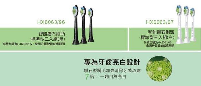 【美國製造】 PHILIPS 飛利浦智能鑽石標準刷頭 HX6063/67 適用HX9903/HX9924/HX9984