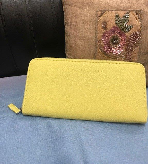 星星花園~香緹卡 CHANTECAILLE 時尚化妝包長夾手拿包~檸檬黃綠