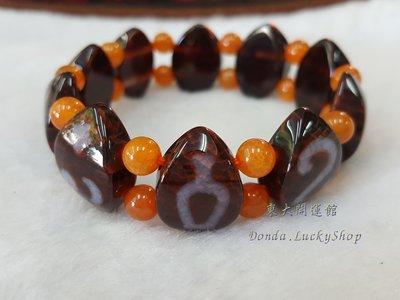 西藏瑪卡石葉子造型天珠材質圖騰手排手珠...