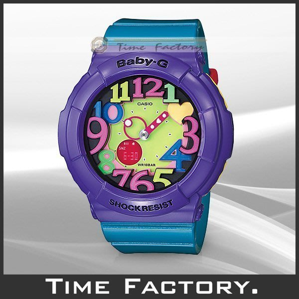 時間工廠 無息分期 CASIO BABY-G 炫彩霓虹LED腕錶 BGA-131-6B (BGA 131 6 B)