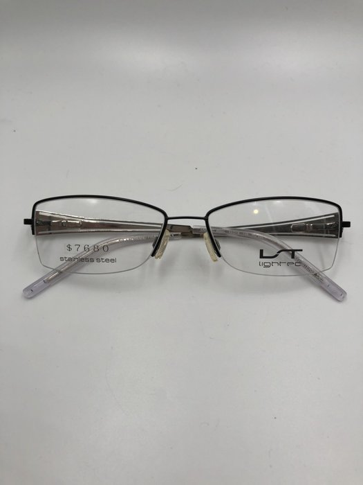 頂傑 Lightec 銀色有型半框眼鏡 - 6532L