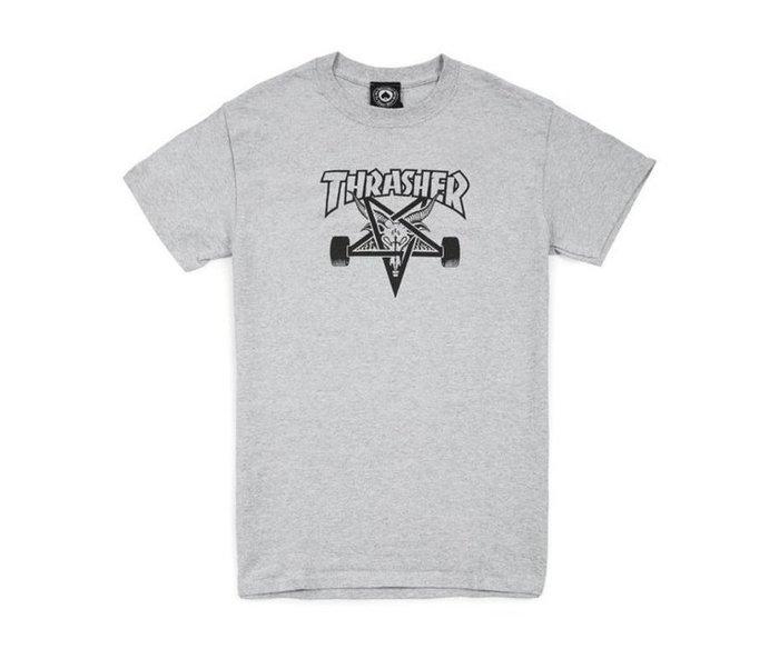 《Nightmare 》Thrasher Magazine Skategoat T-Shirt - Gray