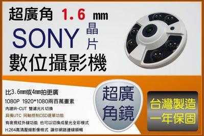 AHD 魚眼型 1080P 攝影機 視野全方位 台中監視器 監控主機 買賣