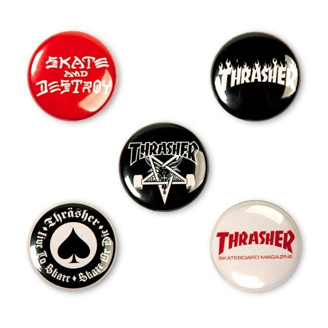 《Nightmare 》Thrasher Logo Buttons (5 Pack)