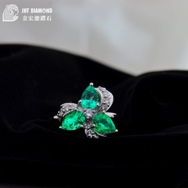 【JHT 金宏總珠寶/GIA鑽石專賣】日本商品限量特價 天然祖母綠白金鑽戒 1.63ct (JB18-A31)*