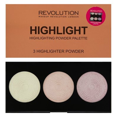 【愛來客 】英國Makeup Revolution Highlighter Palette  3色高光修容盤