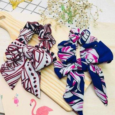 現貨 供應 茉莉 正韓 質感 髮飾 韓國 飾品 雪紡 飄帶 大腸圈 飄帶可拆 髮束