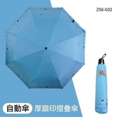 夏季兩用傘 厚銀印 8K自動摺疊傘 Z58-G02 兩用傘 直傘 摺疊傘 陽傘 雨傘