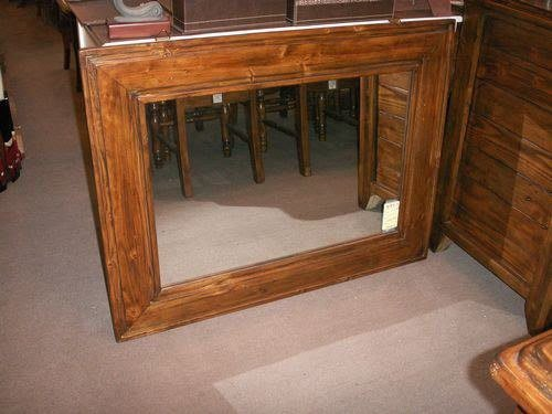 美生活館--南美洲鄉村風格家具--- 全實木掛鏡/玄關鏡--特3500元