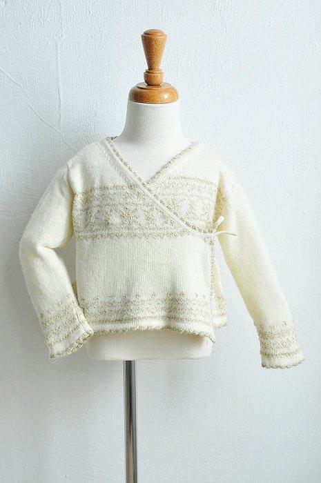 馬克珍妮~【C4092-11】白色羊毛金蔥上衣/針織外套 -側開