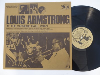 【柯南唱片】Louis Armstrong at the carnegie hall(路易斯阿姆斯壯)>義大利版LP