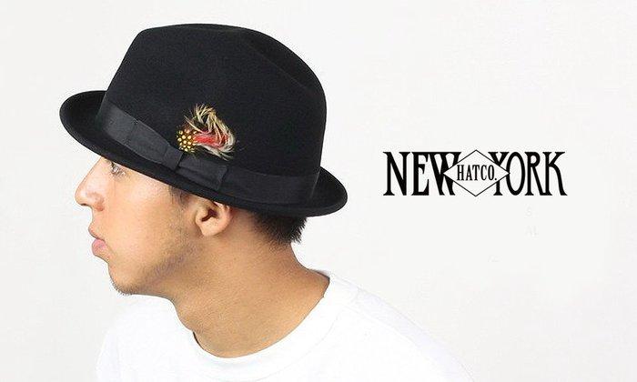 GOODFORIT / 美國New York Hats Stingy Fedora雉雞羽飾防潑水軟呢紳士帽/三色