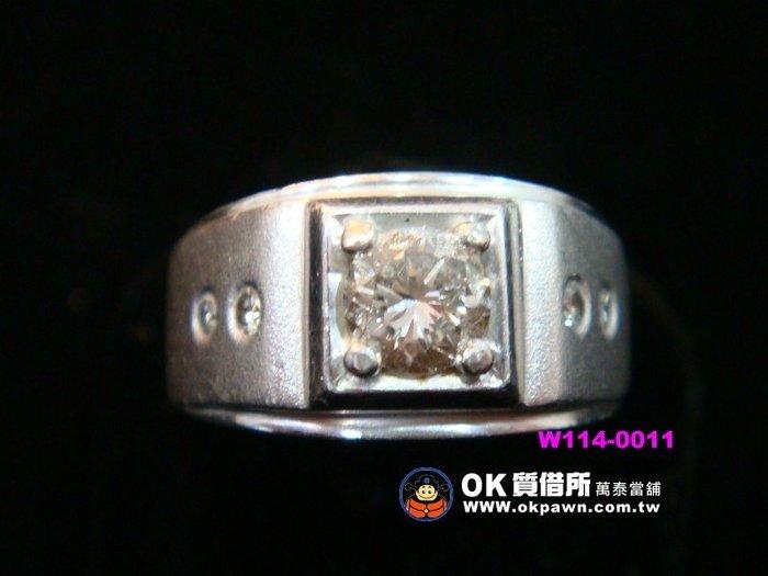 【OK質借所-萬泰當舖】0.51CT-鑲鑽白金戒指-還有多款精品及鑽石等你來搶購唷^,