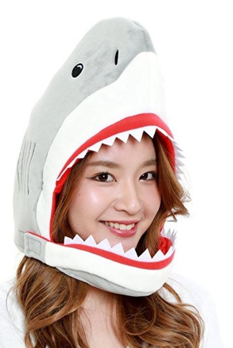 【丹】A_Big Fat Head: SHARK 鯊魚 鯊魚頭 造型 帽子 頭套 COSPLAY