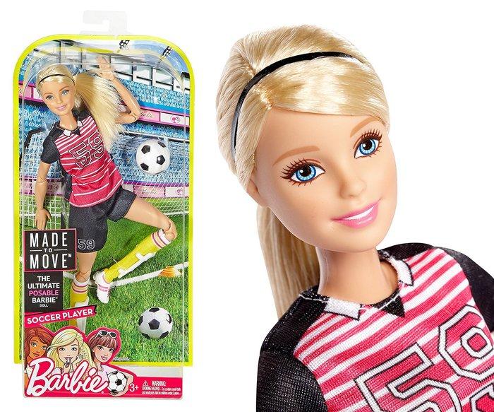 ♥可兒派對♥ 芭比娃娃18關節體 足球barbie made to move posable soccer player