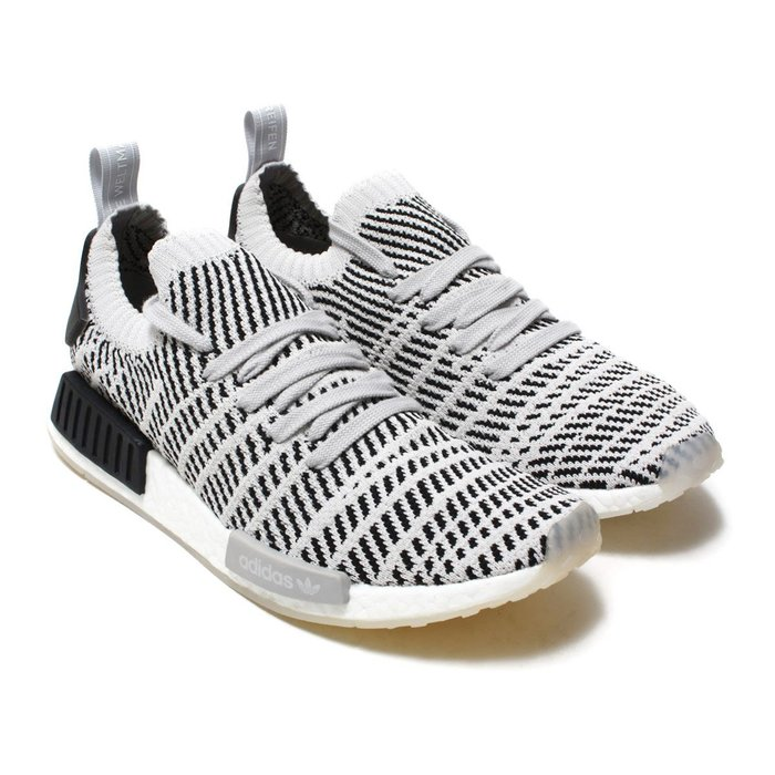 =CodE= ADIDAS ORIGINALS NMD R1 STLT PK 雪花編織襪套慢跑鞋(白黑)CQ2387預購