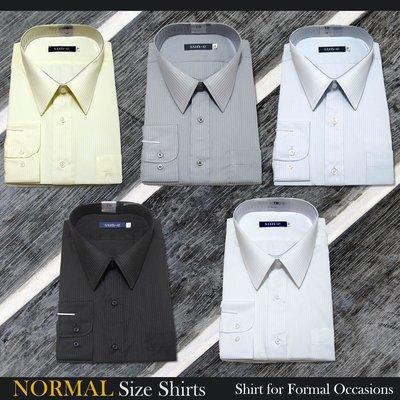 加大尺碼 長袖 條紋襯衫 柔棉舒適 標準襯衫 上班襯衫 正式場合 長袖襯衫(335-701)白藍灰黃黑 sun-e335