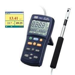 TECPEL 泰菱 》泰仕 TES TES 1341 熱線式風速計 USB介面 風速計 熱線式  風量 溫濕度