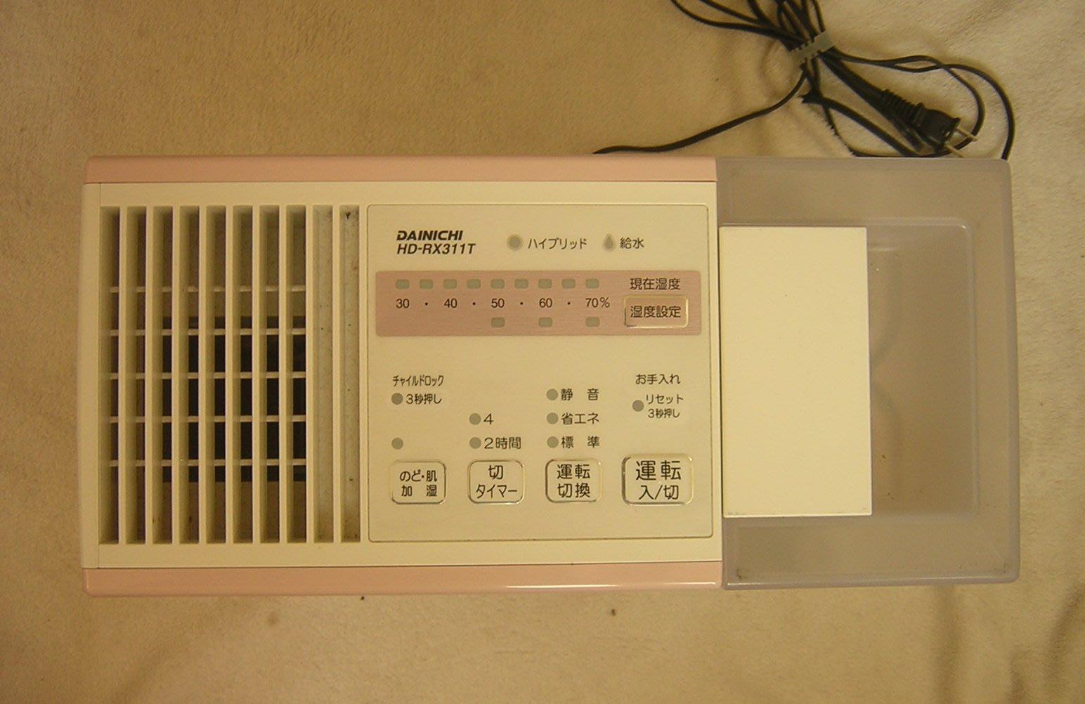 DAINICHI大日(HD-RX311T)空氣清淨保濕機(日本製)