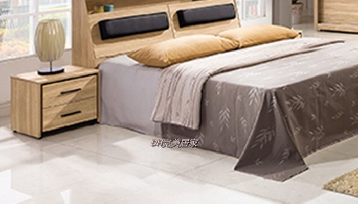 【DH】商品貨號VC103-6商品名稱莉絲48cm兩抽床頭櫃(圖一)簡約優質經典。台灣製品質保證。可訂做。主要地區免運費