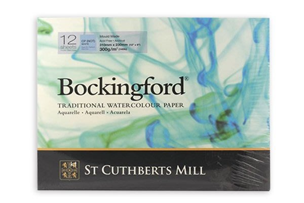 【Artshop美術用品】英國 山度士 Bockingford 冷壓水彩本 300g (23x31cm) 膠裝12入