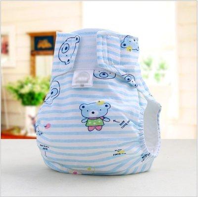 [現貨]純棉卡通布尿褲 寶寶用品防側漏透氣尿布褲 供應嬰兒尿褲(12~18個月)(L號)