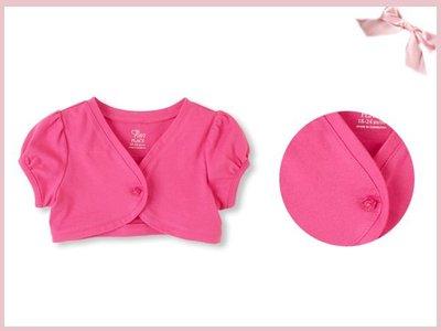 【童梦屋】美国PLACE 桃色纯棉短袖短版外套.小外套.9-12M.12-18M.2.3T.特价【2532718822】