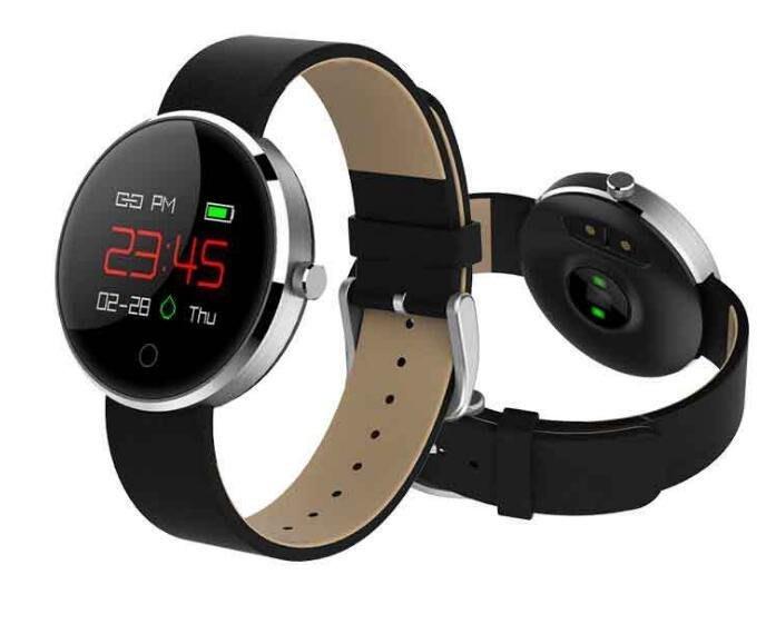 MC07  女性運動智慧手環  心率女性生理健康提醒防水計步睡眠監測手錶 4117