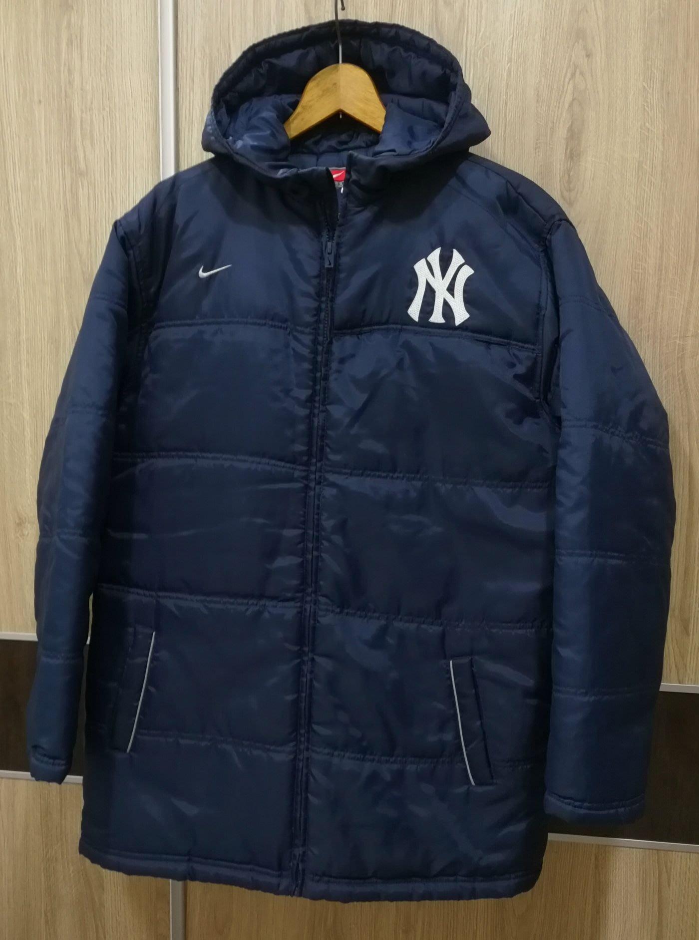 美國帶回 Nike全新正品 洋基Yankee帽T 尼龍外套 藍色S號 無吊牌 美國size M身材也可穿