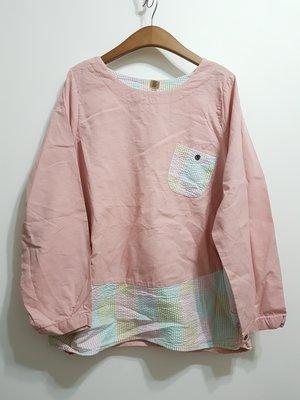 A9韩国衣衣~~左右口袋~拼布遮小腹衫~