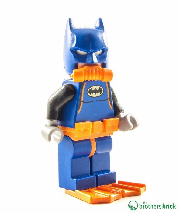 現貨【LEGO 樂高】全新正品 積木/ 蝙蝠俠電影系列: 蝙蝠洞 70909   單一人偶: 蝙蝠俠 淺水裝 (含蛙鞋)