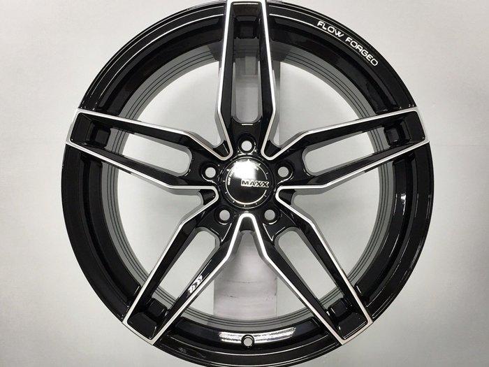 ╭☆輪鋪☆╯全新 (MAXX M08) 18吋5孔114.3 黑車面 旋壓輕量化鋁圈-9KG