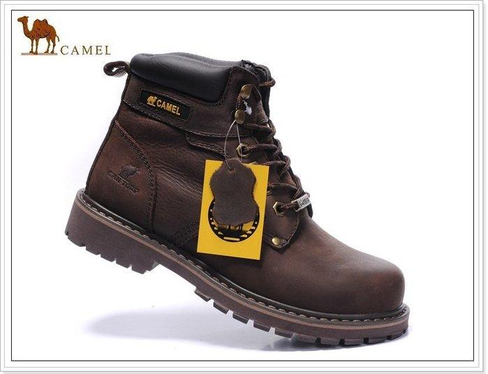 『黑餃ㄇㄇ』【CA037】美國CAMEL原廠 高筒靴 頂層牛皮 必備潮靴  零碼價限量