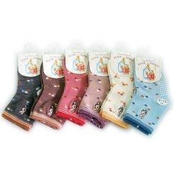 SK3851 彼得兔精繡寶寶襪0-2歲 寶寶襪 $50