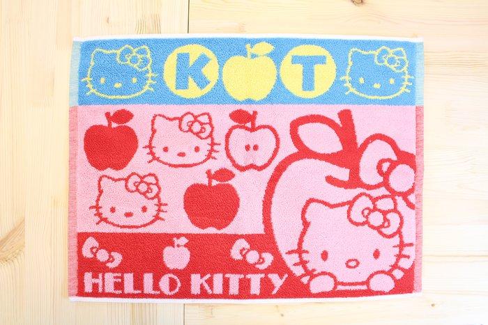 樂婕 日本Sanrio三麗鷗 蘋果Kitty毛巾/擦澡巾