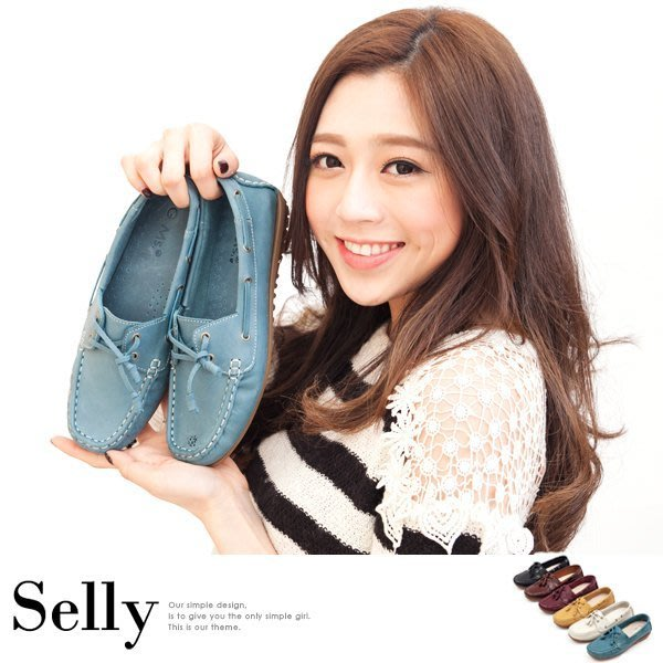 MIT超軟Q-時髦全真皮帆船鞋-3色-Selly-沙粒-(MIT41)