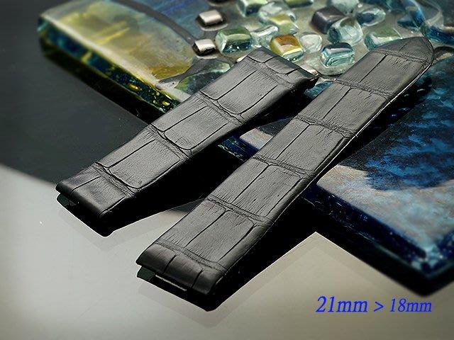 【時間探索】卡地亞 Cartier santos Dumon 山度士 鱷魚皮代用錶帶訂製款-金屬接頭 ( 21mm )