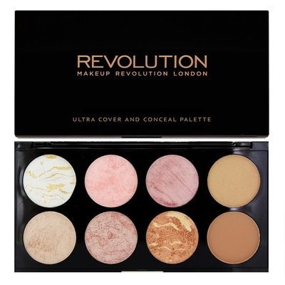 【愛來客 】英國Makeup Revolution Ultra Blush  Golden Sugar 8色打亮修容盤