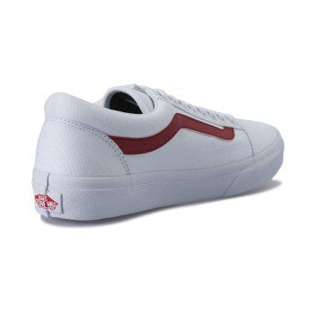 【Luxury】VANS OKD SKOOL DX V36CL CVS 17FA WHITE/RED 白底紅線 皮質帆布
