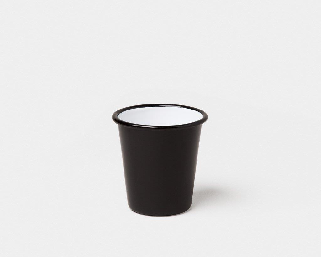 【英國 Falcon】碳黑色 琺瑯杯 310ml 琺瑯水杯 咖啡杯 啤酒杯 茶杯 可可杯 平底杯 琺瑯漱口杯 刷牙杯