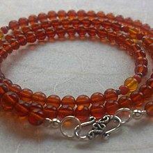 面賞  ~紅珀108數珠兒~ 波羅的海100%天然琥珀 蜜蠟 原礦  寶石鑑定