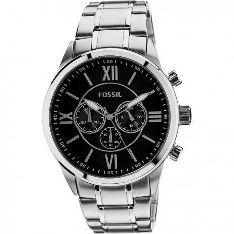 Fossil BQ1125IE Flynn Chronograph BlackDial Men's Watch