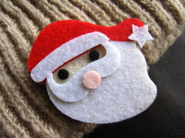 聖誕老公公髮夾 瀏海夾