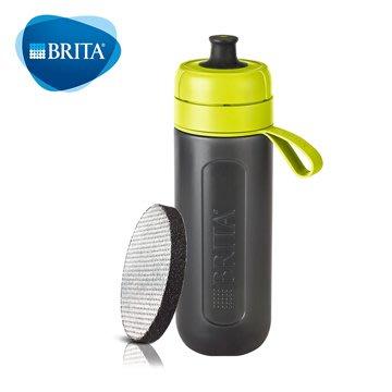 【清淨淨水店】 跑步 露營族最愛*新款 BRITA Fill&Go 0.6L隨身濾水瓶 濾水壺 內贈提帶綠色490元。