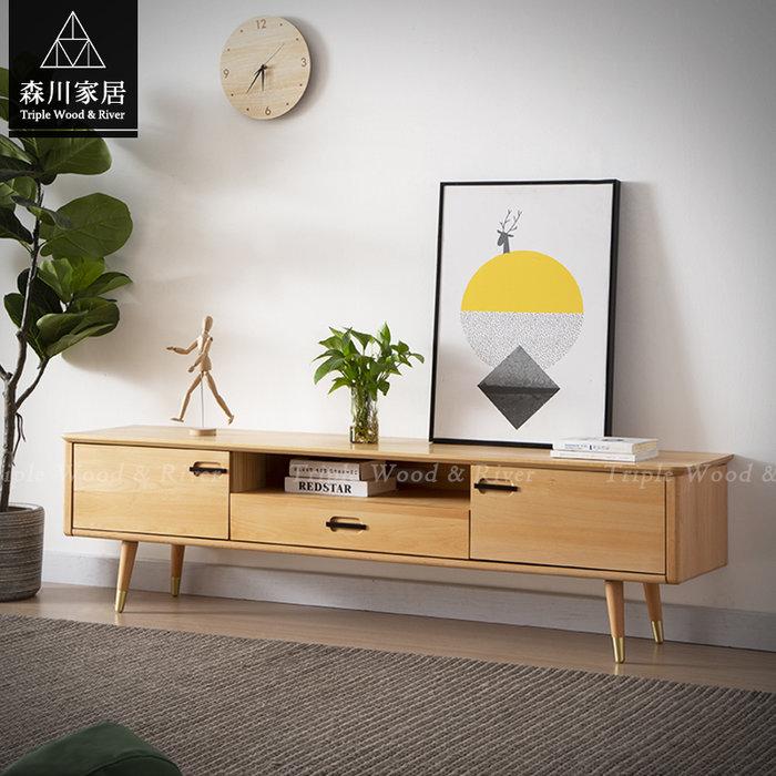 《森川家居》NLF-15LF01-北歐實木山毛櫸1.8米電視櫃 客廳房間民宿/展示櫃設計/日式原木LOFT品東西IKEA
